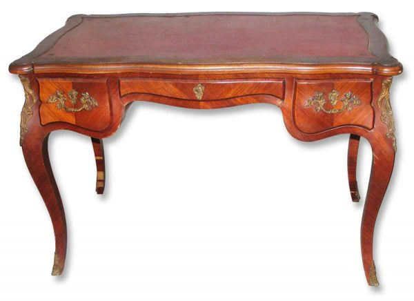 Leather Top Bureau Plat French Desk - Office Furniture
