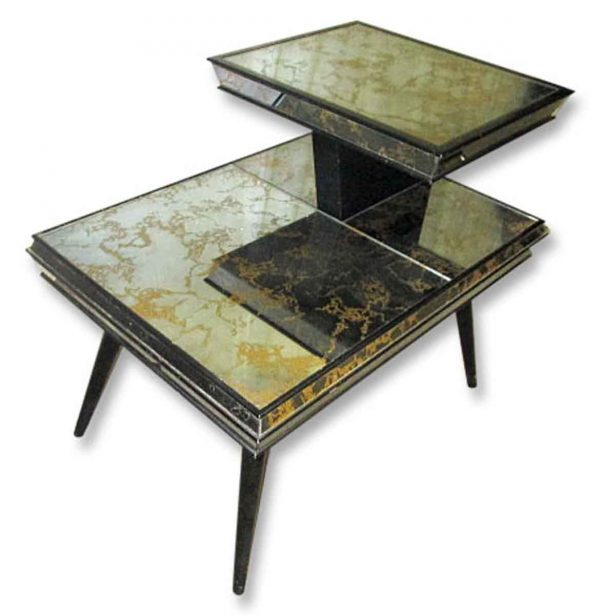 Mirrored Mid Century Side Table - Living Room