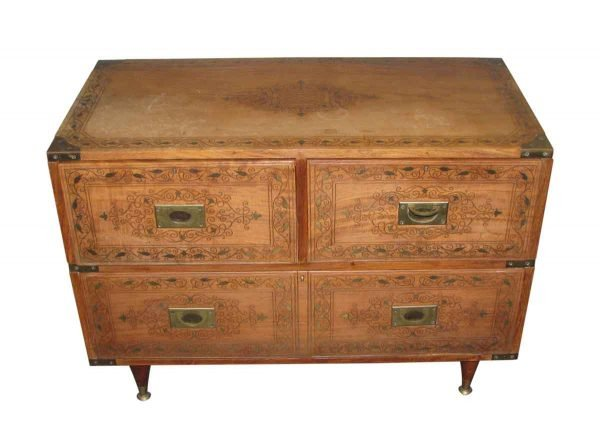 Inlaid Brass Chest of Drawers - Chests