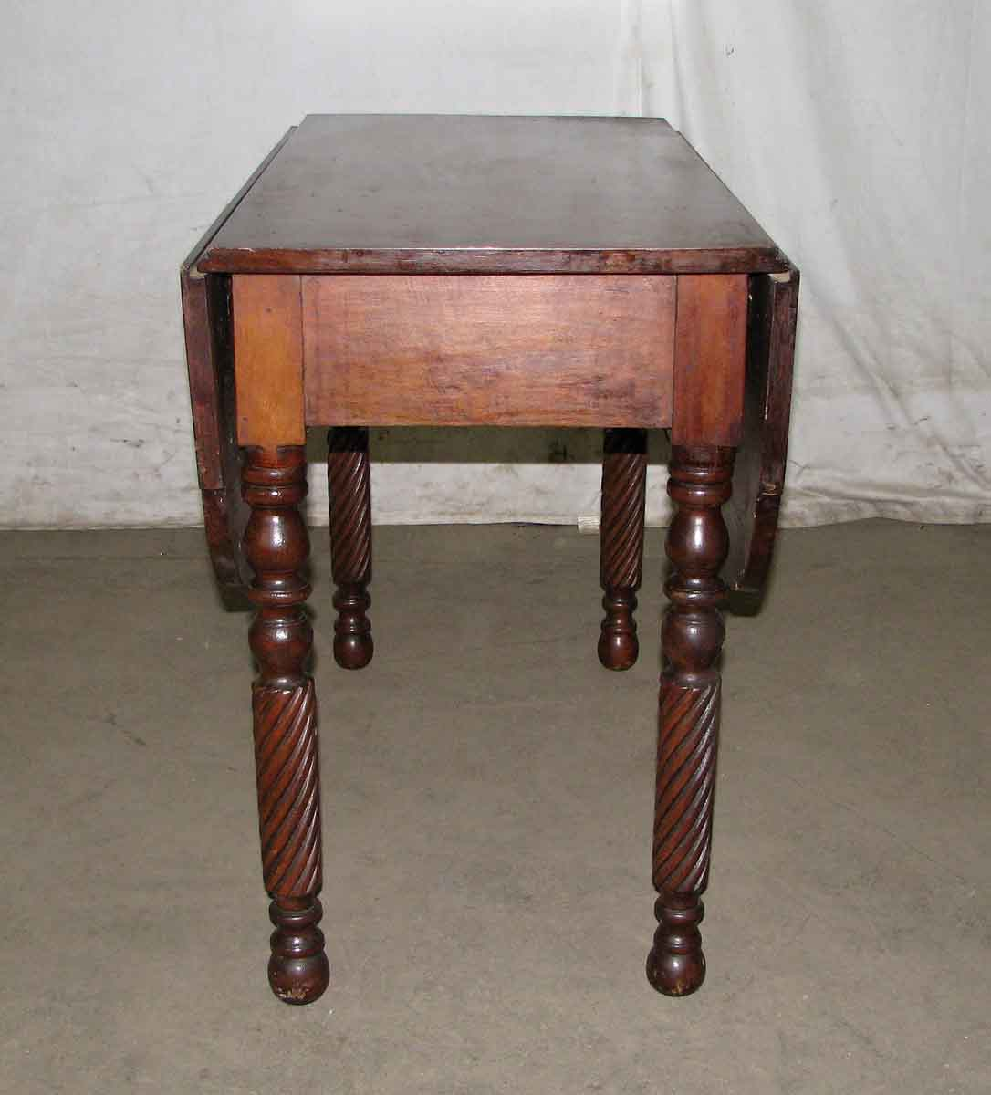 Antique Drop Leaf Table With Serpentine Legs Olde Good