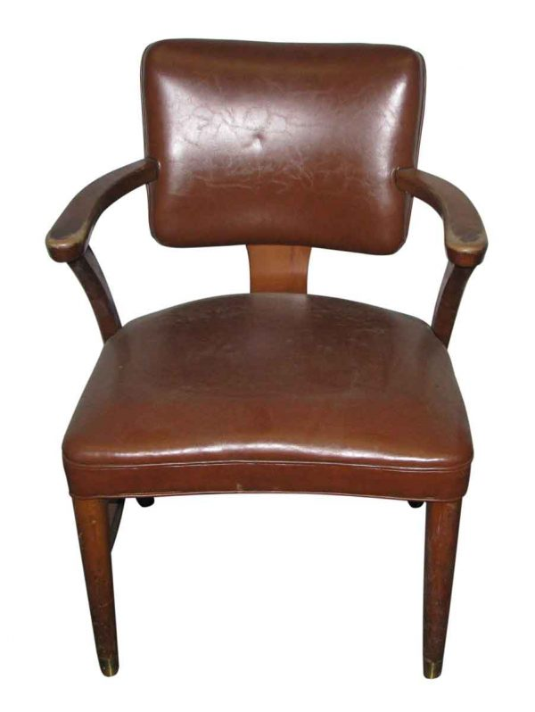 Walnut & Leather Office Chair - Seating
