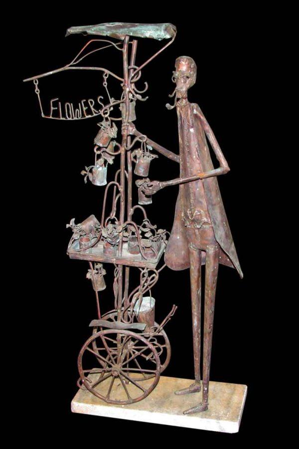Copper Florist Stand Sculpture - Statues & Sculptures
