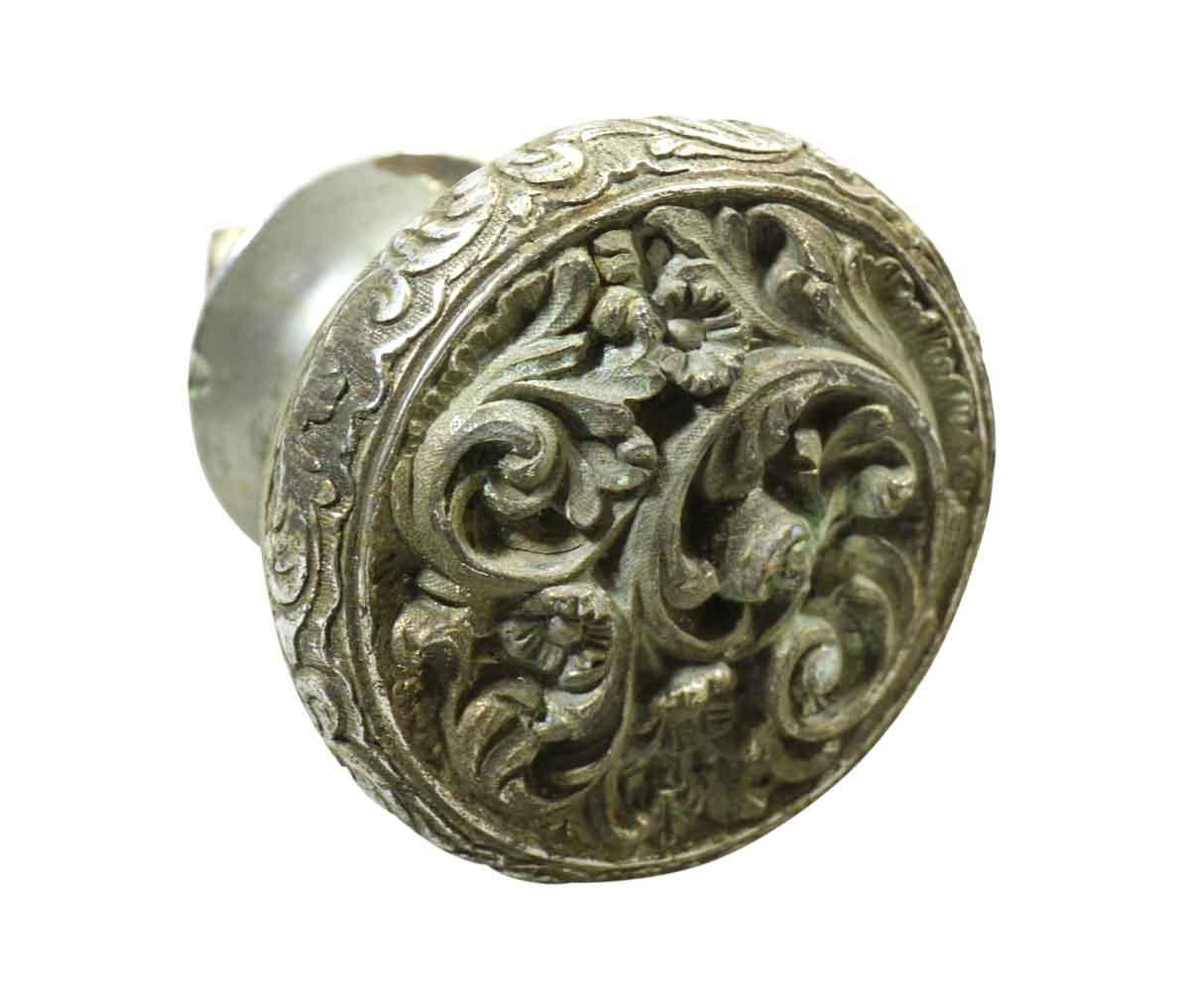 Nickel Over Bronze Ornate Door Knob Olde Good Things