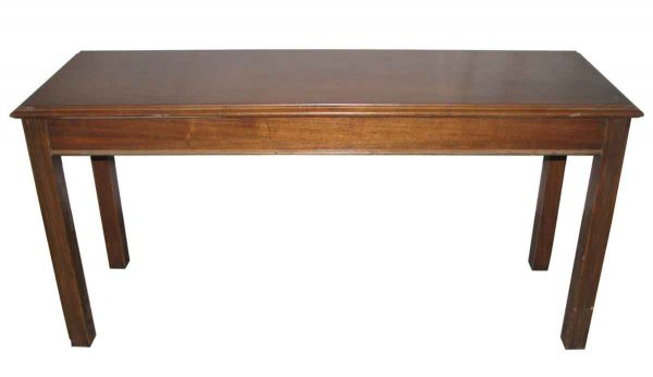 Narrow Walnut Work Table or Desk - Kitchen & Dining