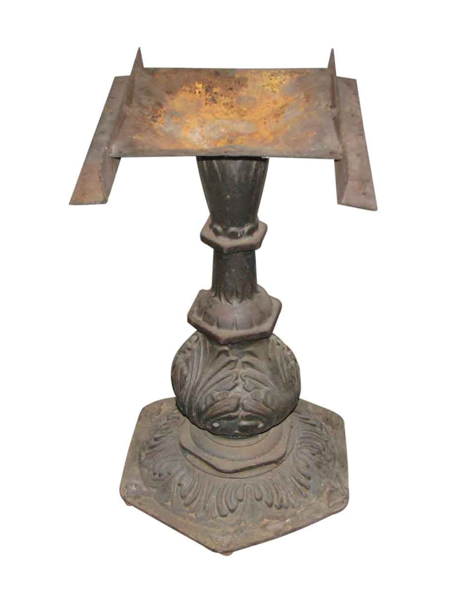 Ornate Cast Iron Pedestal Table Base   Industrial