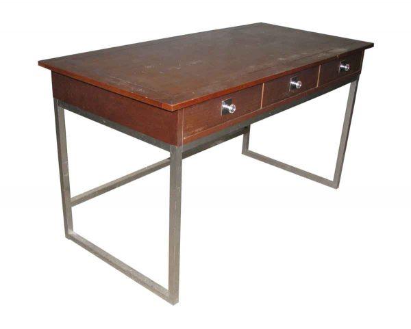 Walnut & Chrome Desk by Vanleigh - Office Furniture