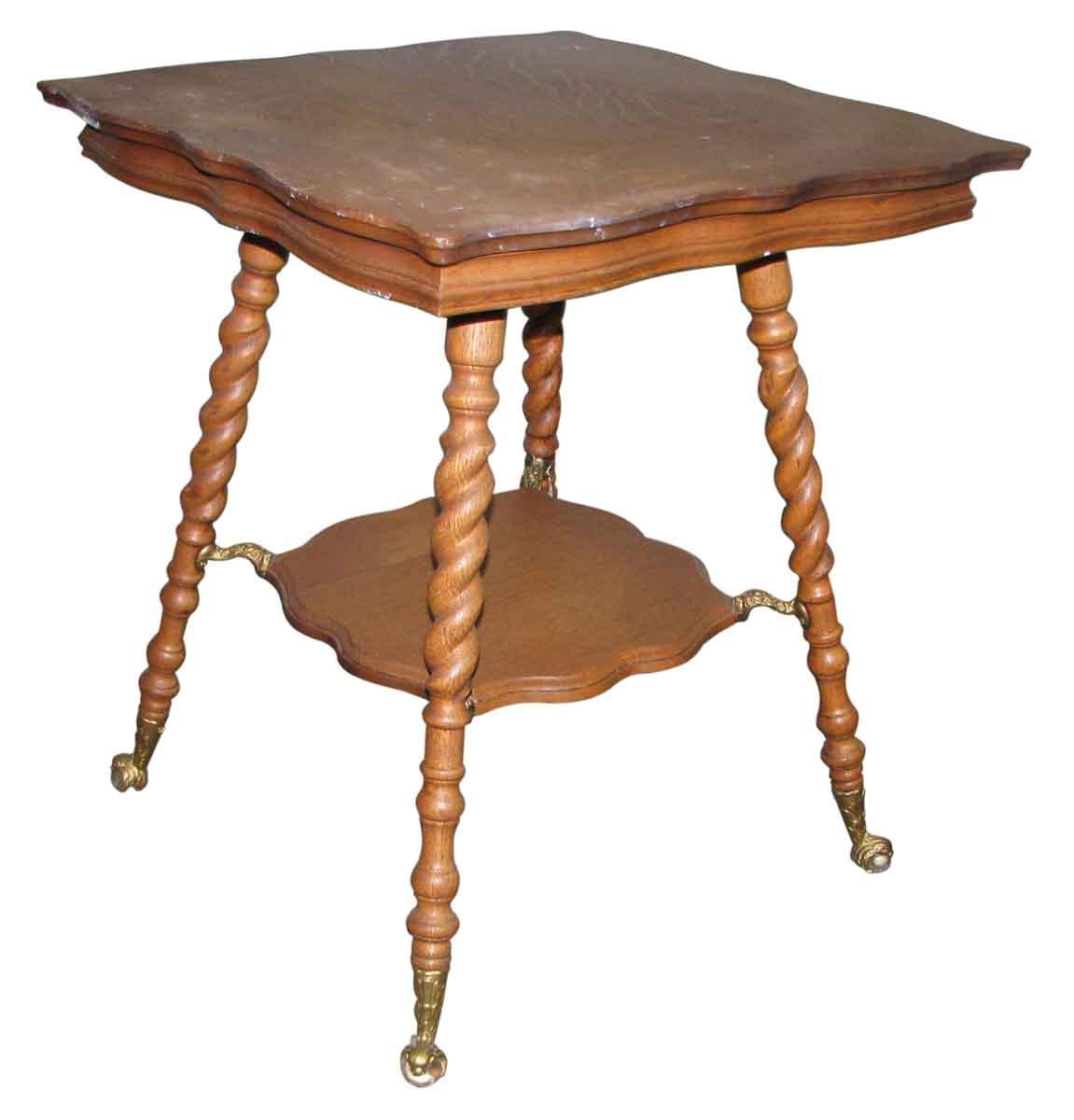 19th century barley twist oak side table olde good things. Black Bedroom Furniture Sets. Home Design Ideas
