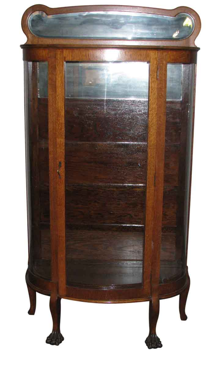 oak china cabinet oak china cabinet with curved glass front olde things 23838