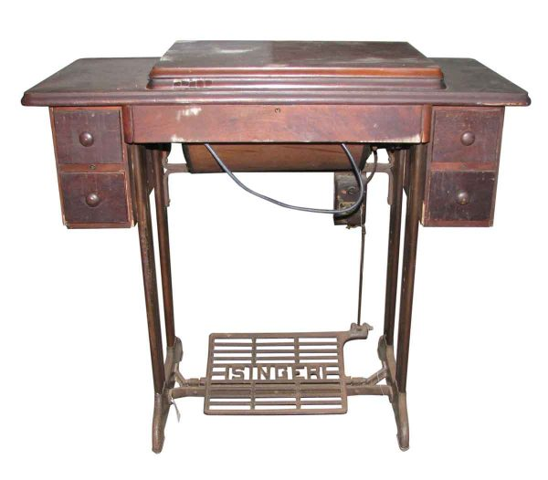 Antique Singer Sewing with Machine Table - Sewing Machines
