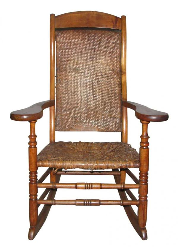 Wood & Woven Cane Rocking Chair - Seating