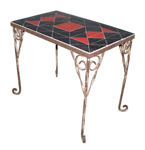 Simple Wrought Iron Plant or Coffee Table - Patio Furniture