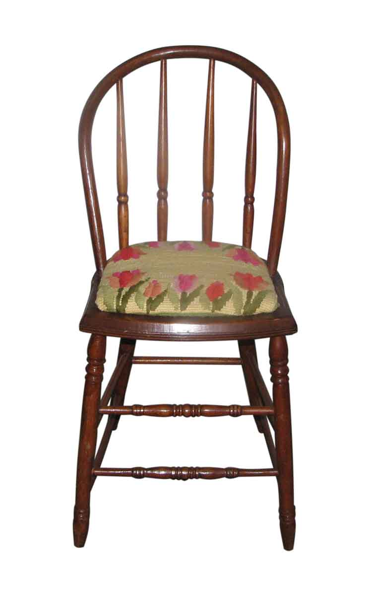 Antique Bentwood Chairs with Needlepoint Cushion - Antique Bentwood Chairs With Needlepoint Cushion Olde Good Things