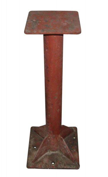 Industrial Red Metal Pedestal Base - Industrial
