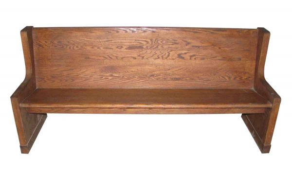 Simple Design Oak Bench or Pew - Religious Antiques