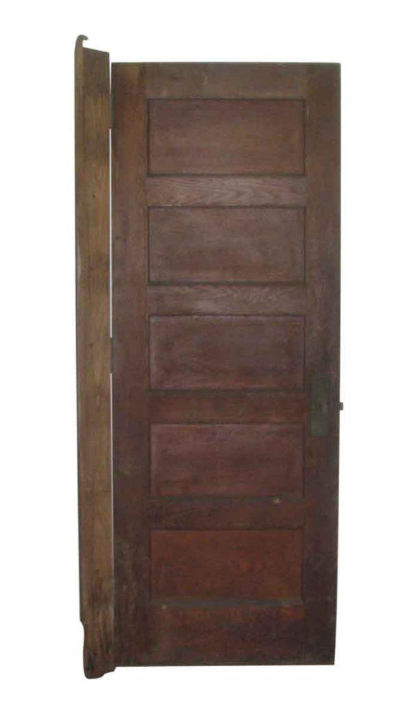 Five Horizontal Panel Wooden Door - Standard Doors