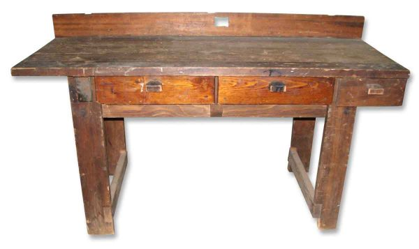 Antique Worn Work Table - Industrial