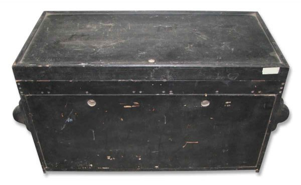 Vintage Black Tool Trunk with Rivets - Trunks