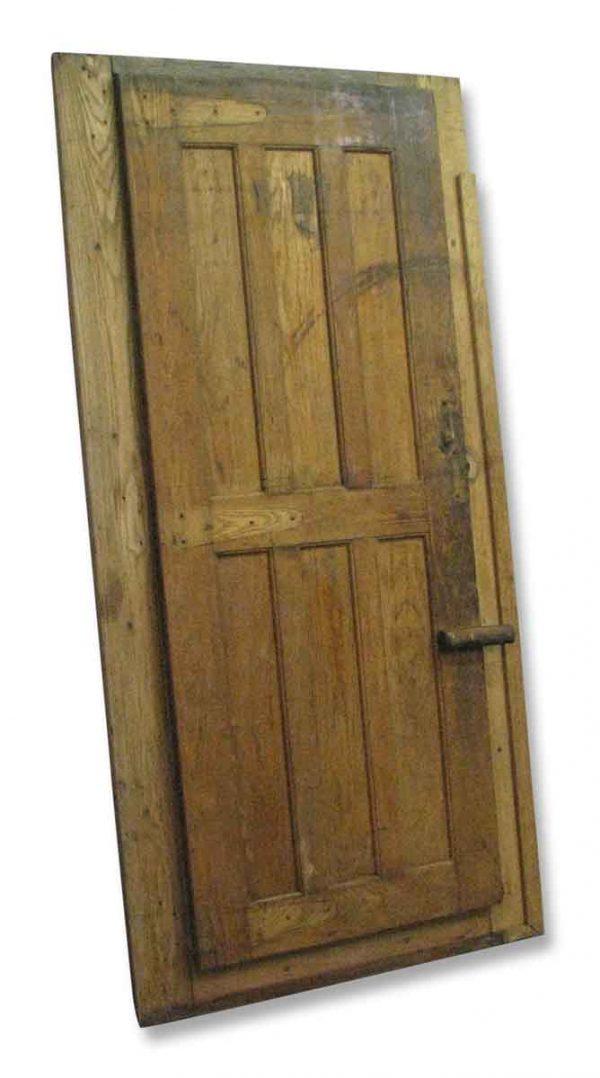 Antique Walk in Freezer or Wine Cellar Door with Frame - Specialty Doors