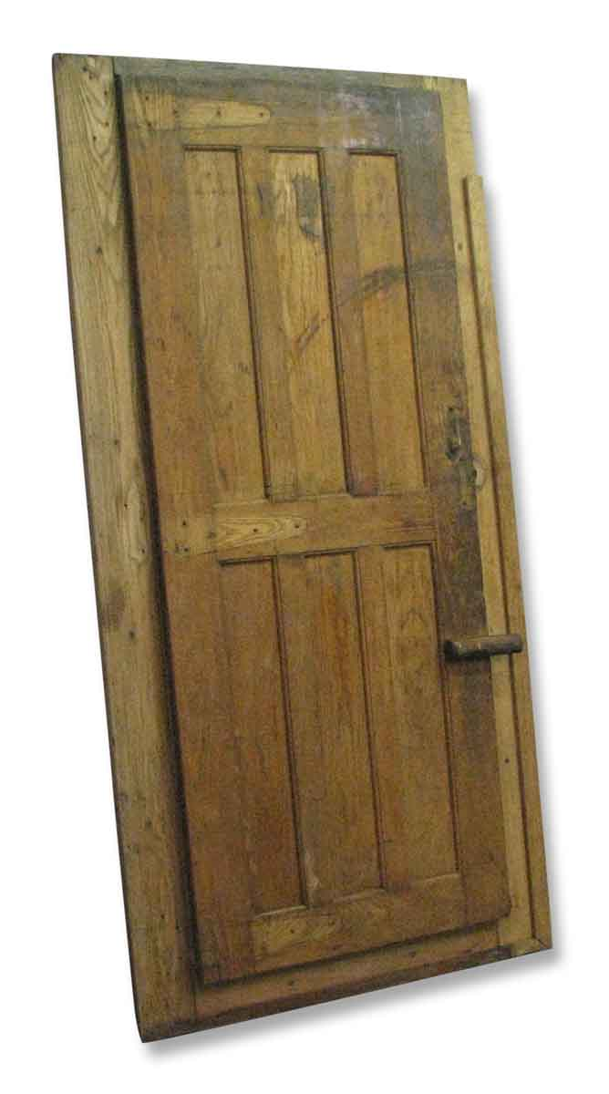 Antique Walk In Freezer Or Wine Cellar Door With Frame