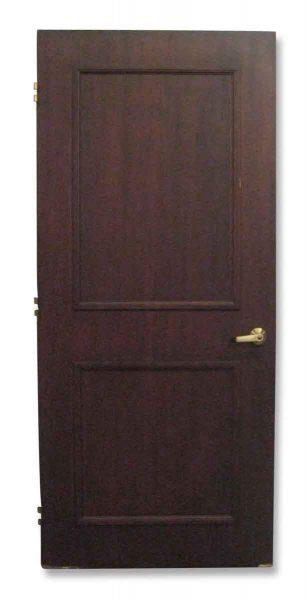 Two Panel Office Door with Bronze Handle & Key - Standard Doors