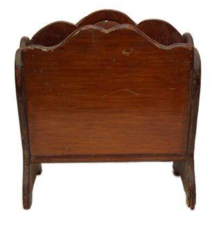 Vintage Worn Wooden Magazine Stand