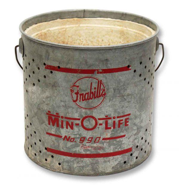 Minnow Metal Fishing Bucket - Nautical Antiques