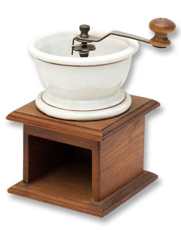 Teleflora Wood & Porcelain Coffee Grinder Display - Kitchen