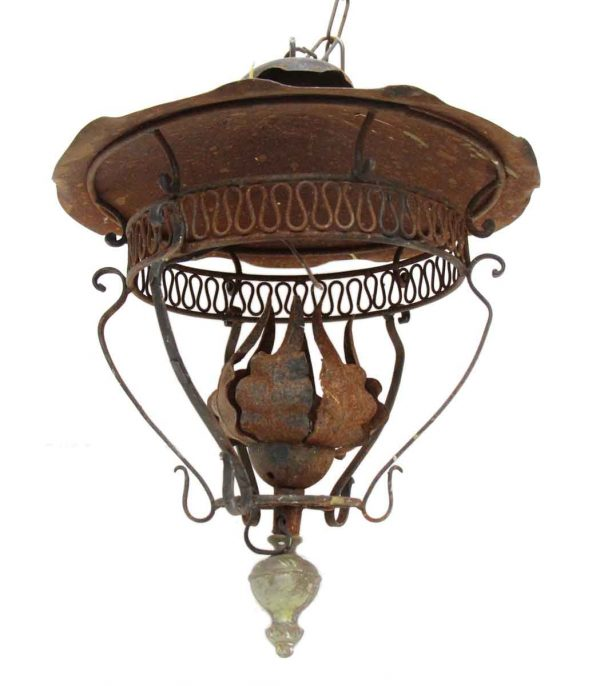Rustic Exterior Iron Porch Lantern - Chandeliers