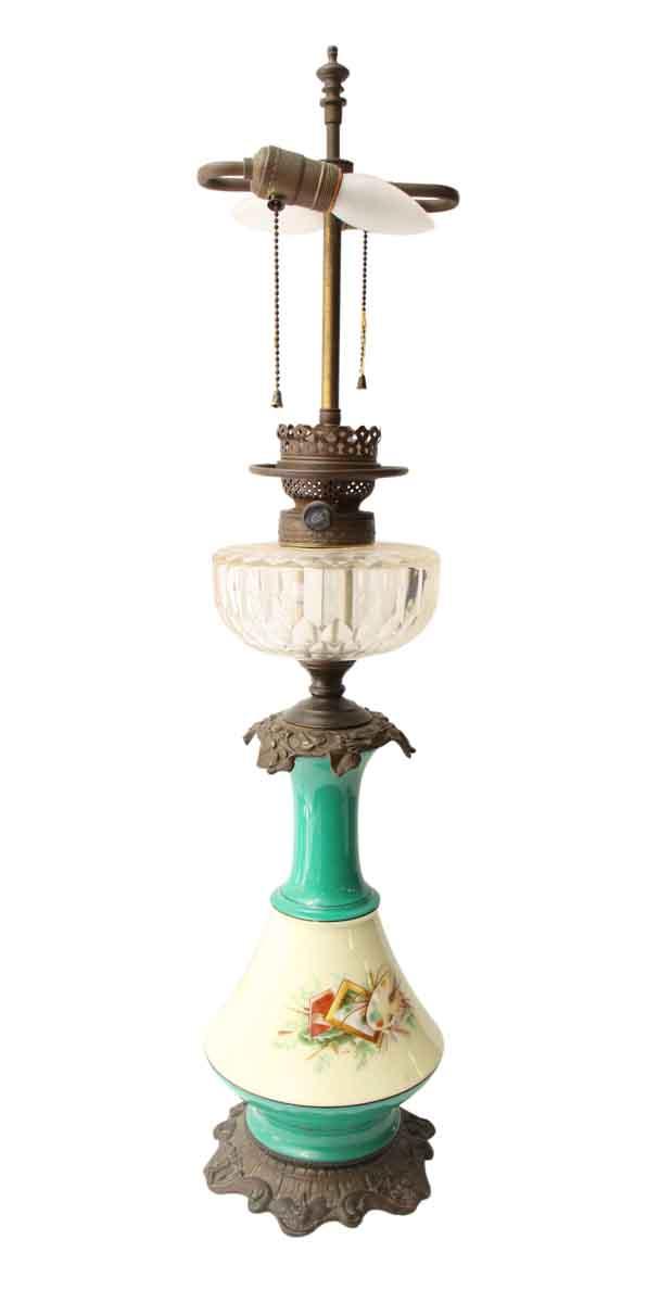 Pretty Porcelain & Metal Lamp - Table Lamps