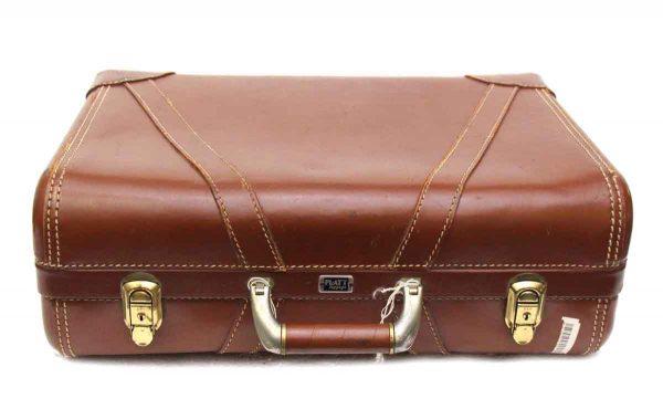 Platt Vintage Brown Suitcase - Suitcases