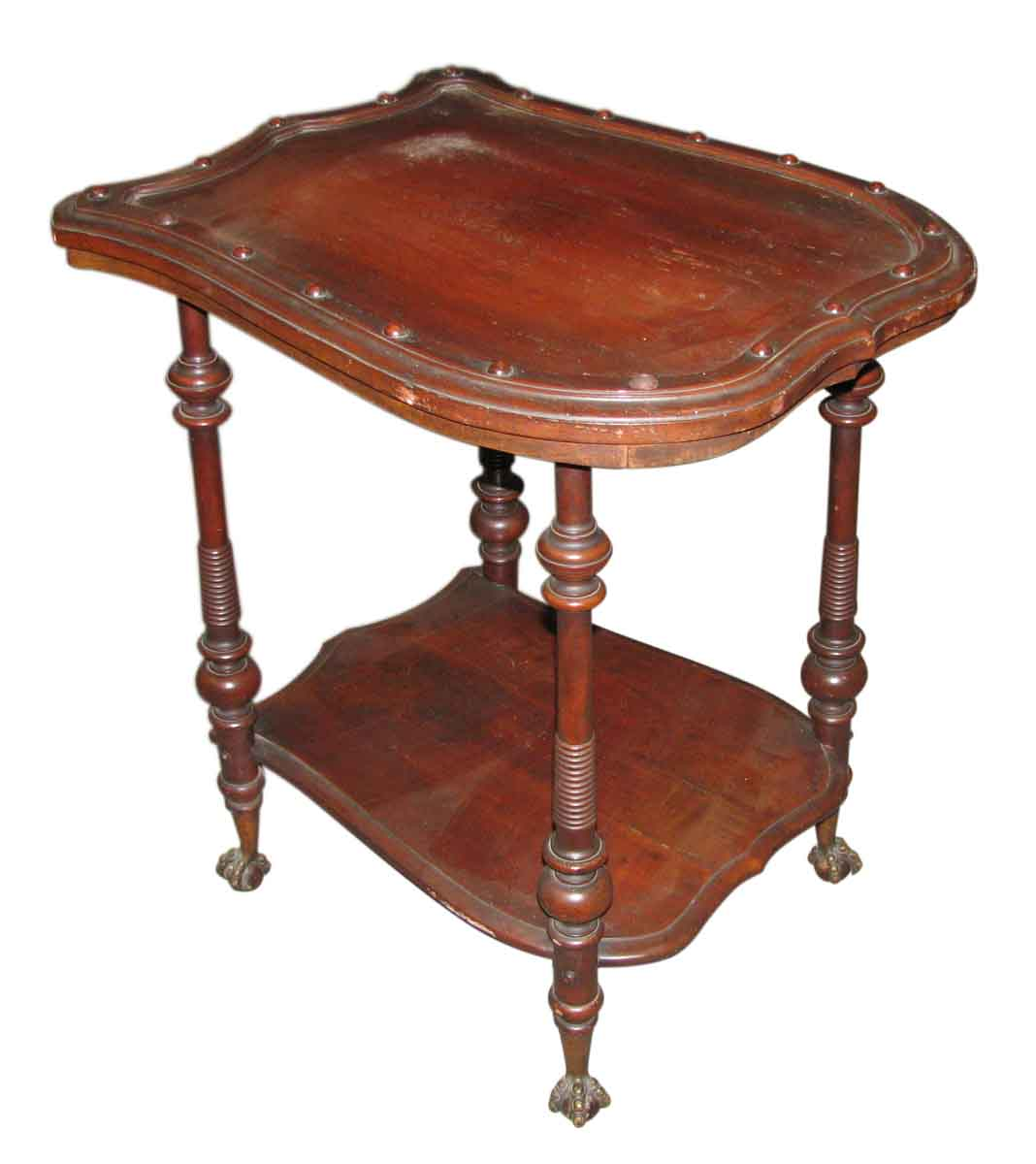 Claw feet shield side table olde good things - Antique side tables for living room ...