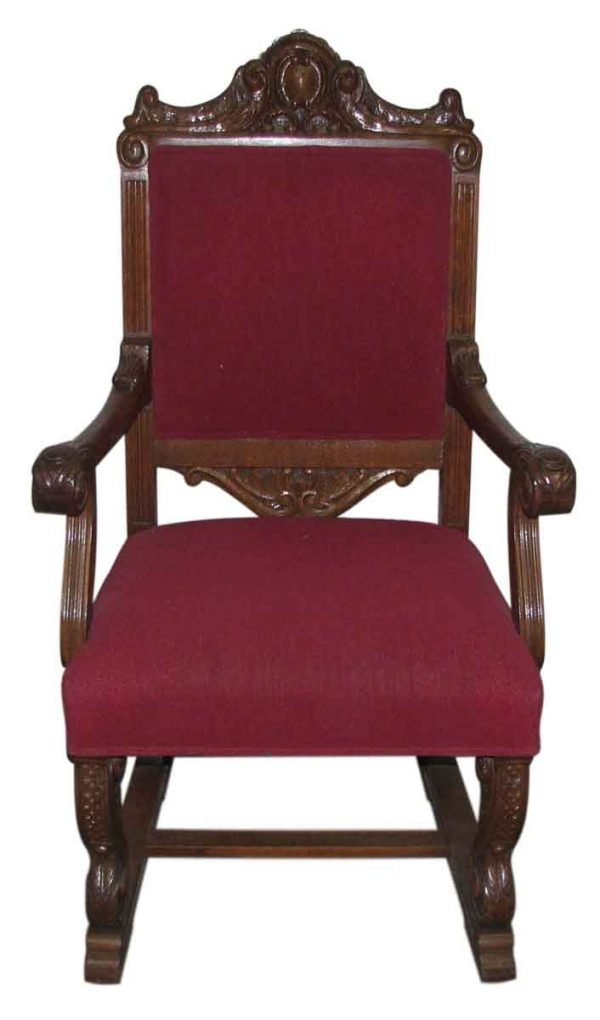 Set of Four Carved Oak Arm Chairs - Kitchen & Dining