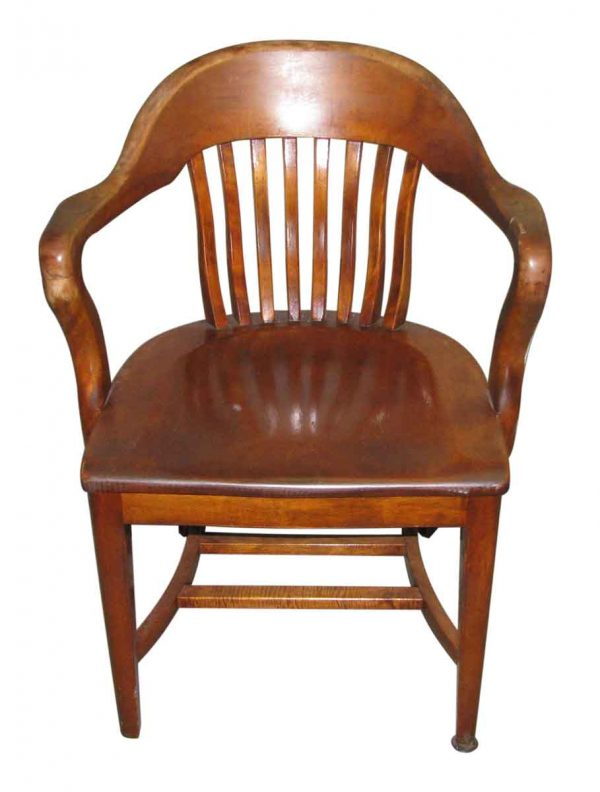 Solid Wood Arm Chair with Slatted Back - Seating