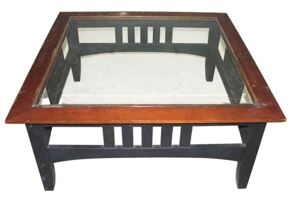 Vintage Square Glass Coffee Table - Living Room
