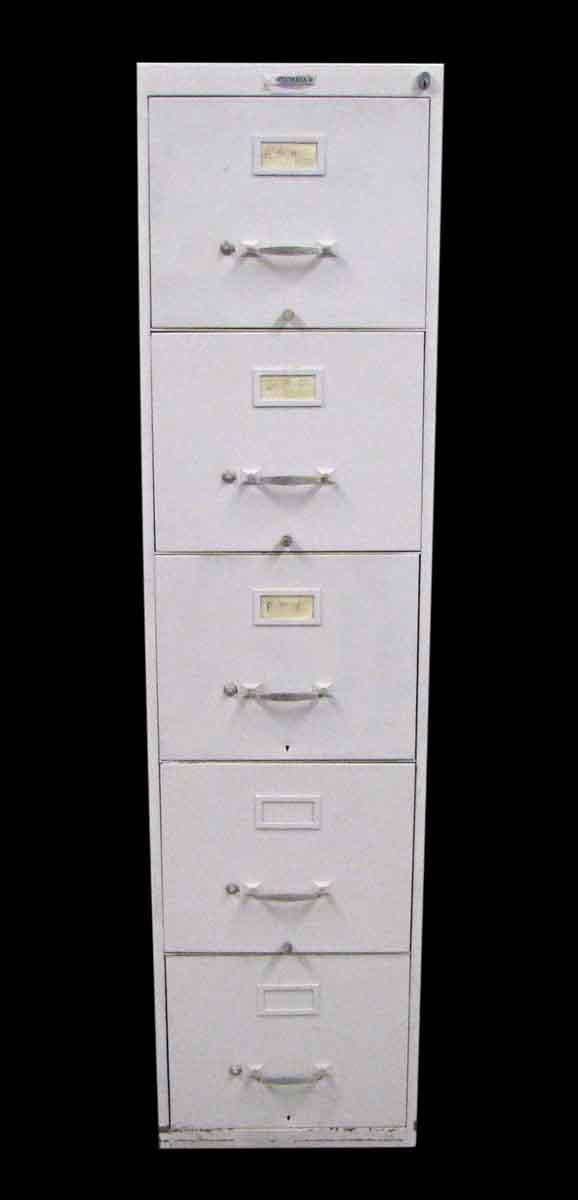 Standard Metal Five Drawer File Cabinet - Office Furniture