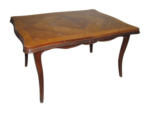 Inlaid Wood Table in Restorable Condition - Kitchen & Dining