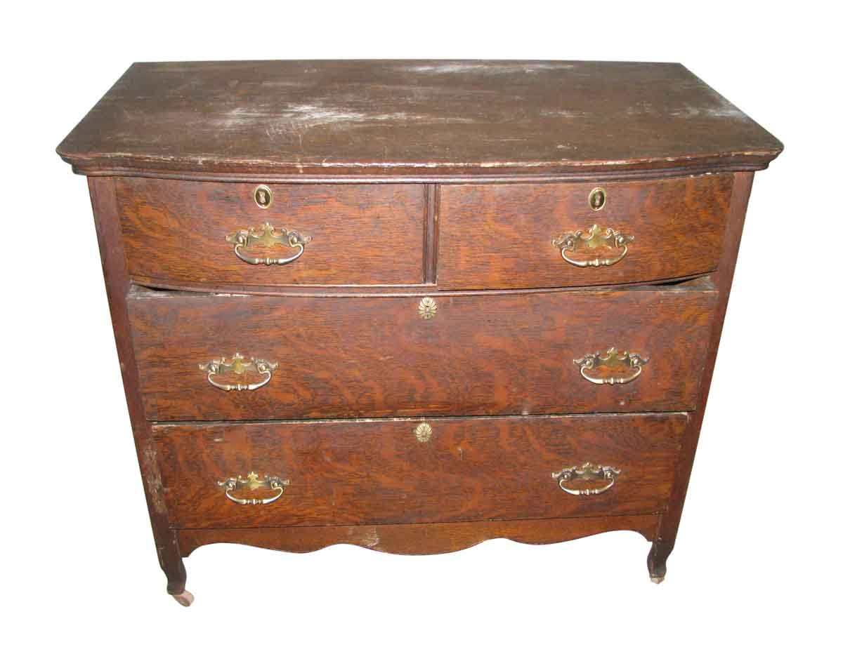 Vintage Tiger Oak Low Dresser Olde Good Things
