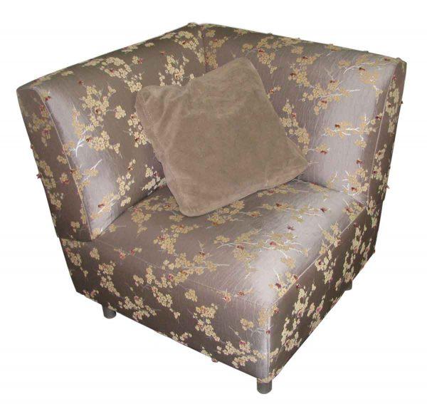 Silk Upholstered Corner Chair - Living Room