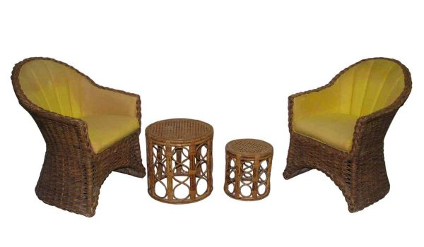 Wicker Chairs & Tables from 1960s - Patio Furniture