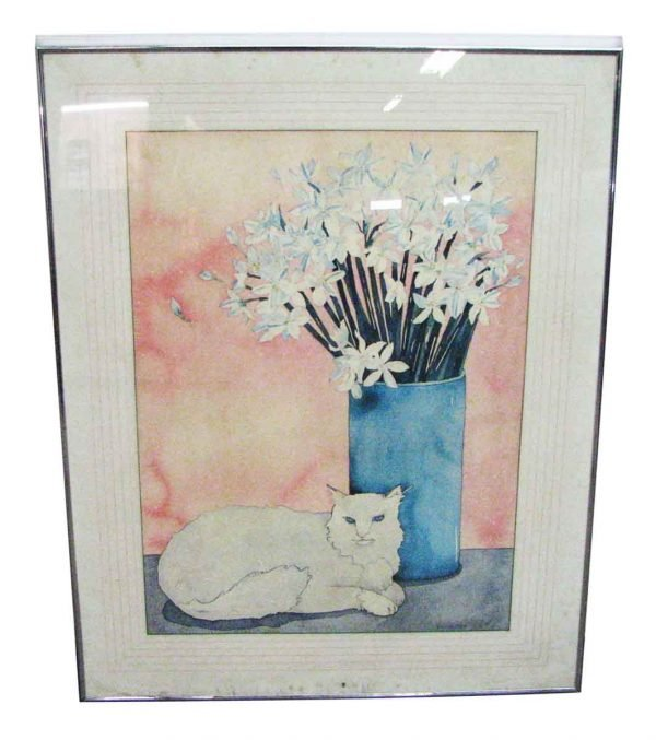 Cat & Flower Print - Prints