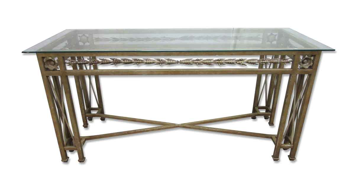 Wrought Iron Console Table with Glass Top Olde Good Things