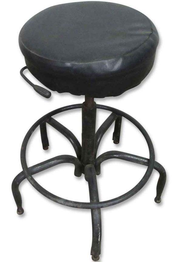 Vintage Adjustable Stool with Metal Base - Seating