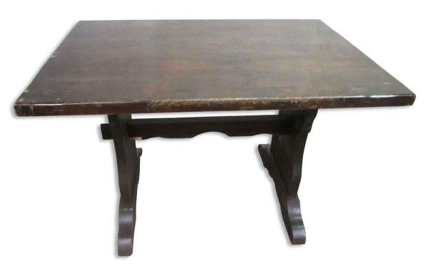 Simple Dark Wood Trestle Table - Kitchen & Dining