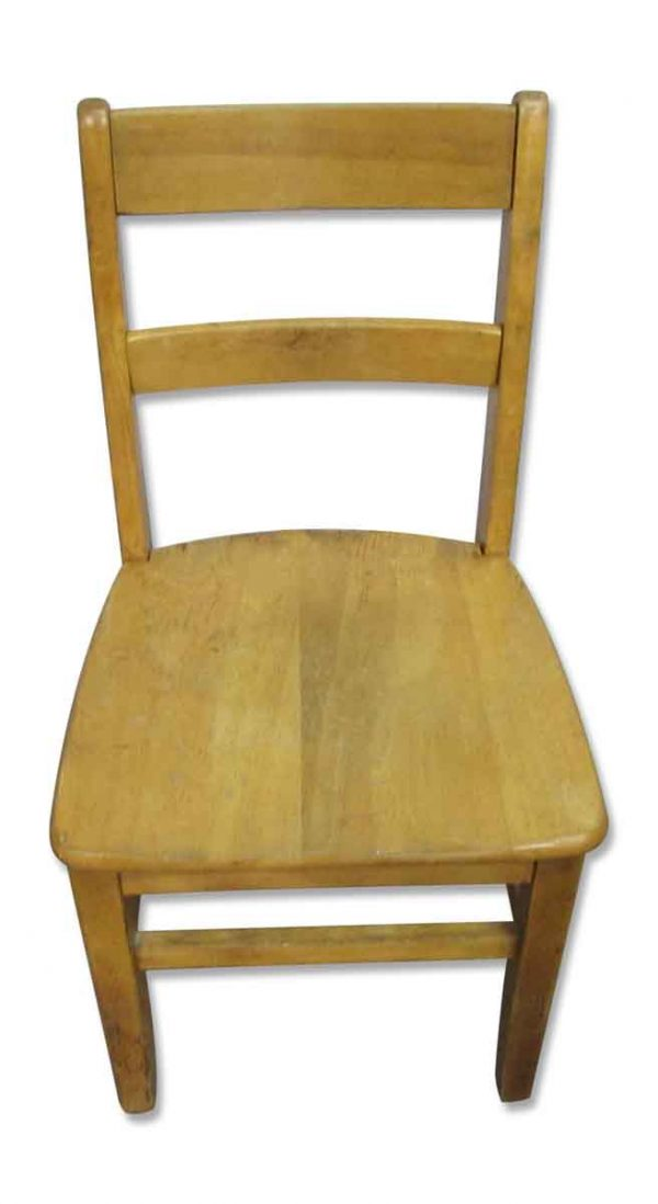 Simple Wooden School Chair - Seating