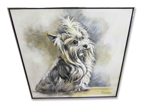 Shaggy Terrier Puppy Painting - Prints