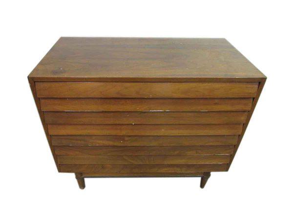 Mid Century Low Boy Walnut Dresser - Bedroom