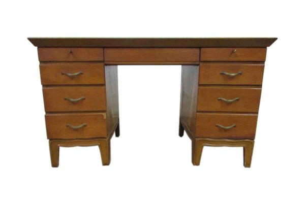 Pinecrest Wooden Leather Top Desk - Office Furniture