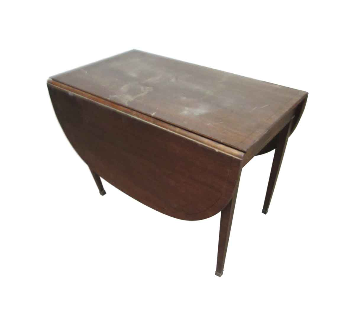 Restorable Folding Table With Inlaid Wood Olde Good Things