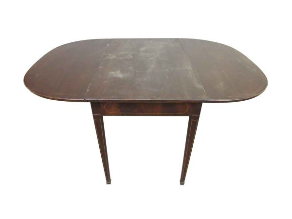 Restorable Folding Table with Inlaid Wood - Kitchen & Dining