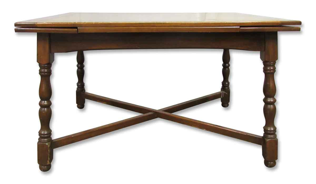 Solid wood four leg folding table olde good things for Solidworks design table zoom